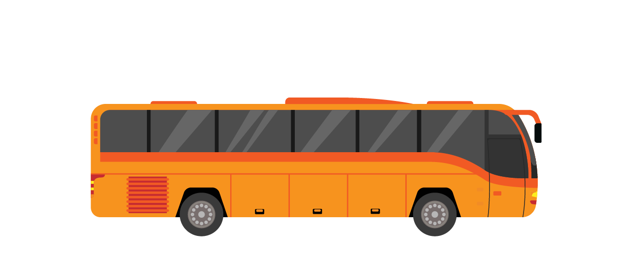 Ventac commercial vehicle coach orange