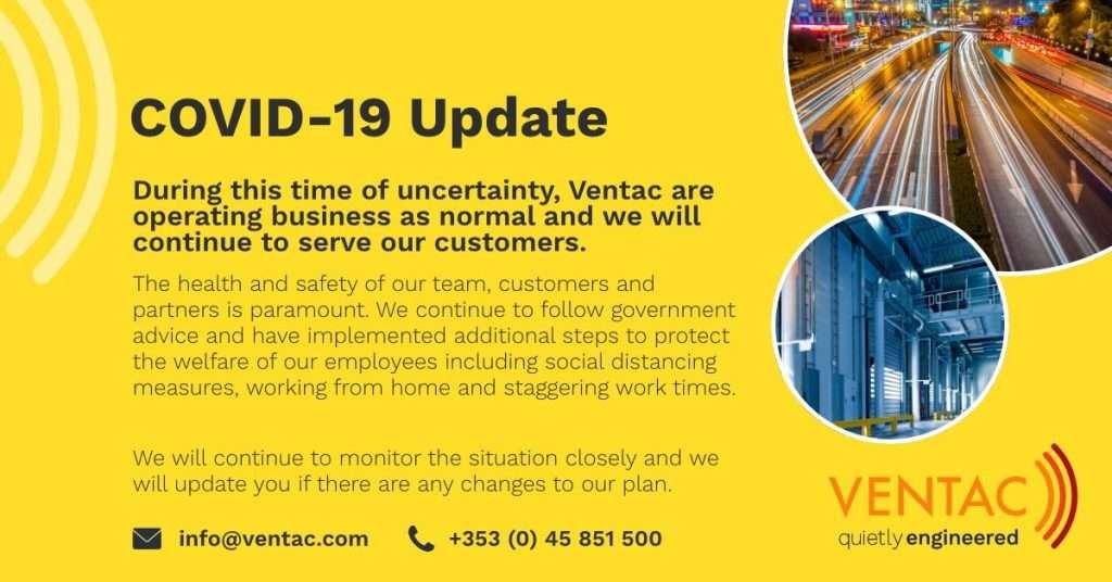 COVID 19 Update from Ventac